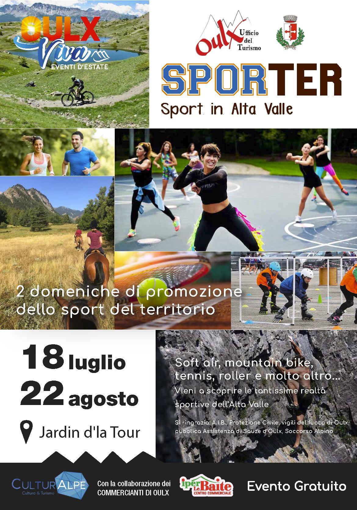 SPORTER, Sport in Alta Valle
